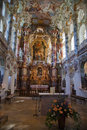 The luxurious interior of the Church Wieskirche Royalty Free Stock Photography
