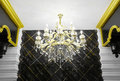Luxurious interior details chandelier Stock Photography