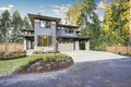 Luxurious new construction home in Bellevue, WA Royalty Free Stock Photo