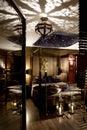 Luxurious oriental bedroom Royalty Free Stock Photo