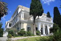 Luxurious palace villa the achillion or achilleion on corfu greece built by the famous empress sissi of austria Stock Photo