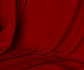 Luxurious red curtain material background close up cloth velvet for Stock Image