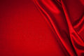 Luxurious satin red background closse up Royalty Free Stock Photo