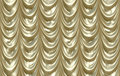 Luxurious shiny Gold curtains Stock Image