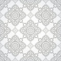 Luxurious silver seamless wallpaper vector Stock Photos