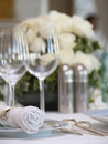 Luxurious table setup Stock Photos
