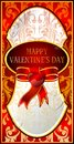 The luxuriously decorated with valentine vect vector card valentines in a luxurious design Stock Photography