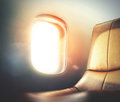 Luxury airplane interior Royalty Free Stock Photo