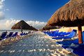 A luxury all inclusive beach resort at morning Royalty Free Stock Photos