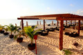 A luxury all inclusive beach resort at morning Royalty Free Stock Images