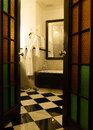 Luxury antique bathroom Stock Photography