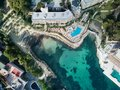 Luxury apartments and hotel with swimming pool in Majorca. Spain Royalty Free Stock Photo
