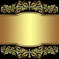 Luxury background decorated the golden royal borders is presented Stock Image