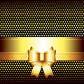 Luxury background with golden bow Royalty Free Stock Photo