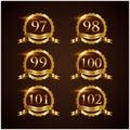 Luxury Badge Anniversary 79-84 Vector Illustrator Eps.10