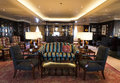 Luxury bar on cruise ship interior Stock Image