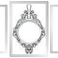 Luxury Baroque Rococo Mirror frame set