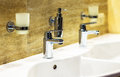 Luxury bath tub and faucet Royalty Free Stock Photo