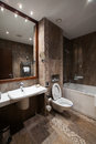 Luxury bathroom in hotel empty Royalty Free Stock Photography