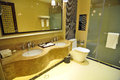 Luxury bathroom photo taken in a hotel of china Royalty Free Stock Photo