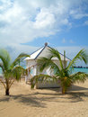 Luxury beach hut corn island nicaragua Royalty Free Stock Photo