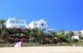 Luxury beachfront holiday villas atlantic ocean Stock Images