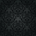 Luxury black charcoal floral wallpaper pattern this image is an illustration Stock Images