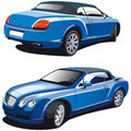Luxury blue car Royalty Free Stock Photography