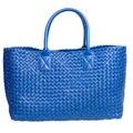 Luxury blue leather female bag isolated on white Royalty Free Stock Photo
