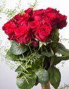 Luxury bouquet made of red roses in flower shop Valentines Bouquet of red roses Royalty Free Stock Photo