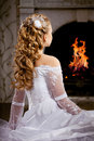Luxury bride with wedding hairstyle Royalty Free Stock Images