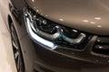 Luxury car headlight detail close up Stock Photo