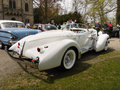 Luxury cars auburn boattail speedster replica supercharged arctic white color only of the originals were produced were designed by Stock Image