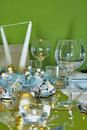 Luxury celebration  table setting Stock Photography
