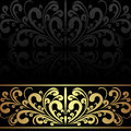 Luxury charcoal Background with golden Border. Stock Image