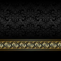 Luxury charcoal background with golden ribbon is presented Royalty Free Stock Images