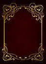 Luxury classic golden frame Royalty Free Stock Photo