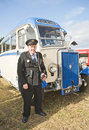 Luxury coach at Roseisle Vintage Rally. Royalty Free Stock Photo