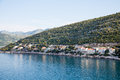 Luxury condos on coast of croatia resort the the adriatic sea Stock Photography