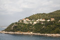 Luxury condos on coast of southern france the coastal hillsides the south Stock Photography
