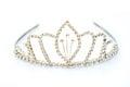 Luxury crown with diamonds, a diadem jewelry. Royalty Free Stock Photo