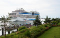 Luxury cruise ship Aida Mar leaving harbour Royalty Free Stock Photo