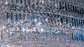 Luxury Crystal Chandelier. Close up on the crystal of a contempo Royalty Free Stock Photo