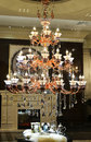 Luxury crystal chandelier in a the hall Royalty Free Stock Photo