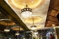 Luxury crystal chandelier lighting in hotel Royalty Free Stock Photo