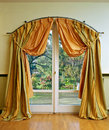 Luxury curtain Stock Photos
