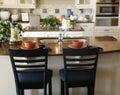 Luxury custom built kitchen with island Royalty Free Stock Photo