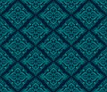 Luxury damask seamless pattern blue color vector illustrations eps Royalty Free Stock Image