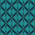 Luxury damask seamless pattern blue color vector illustrations eps Royalty Free Stock Photo
