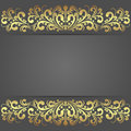 Luxury dark Background with golden royal Borders. Royalty Free Stock Photo